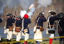 Musket drills, Washington Crossing