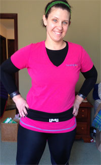FlipBelt is good for exercise and travel!