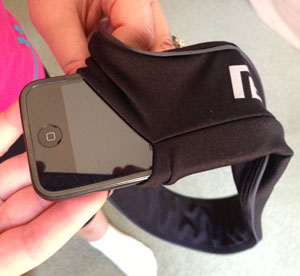 The Flipbelt fits any iPhone or iPod.
