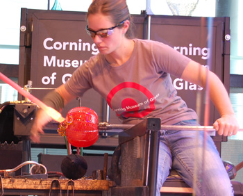 hot glass blowing demo
