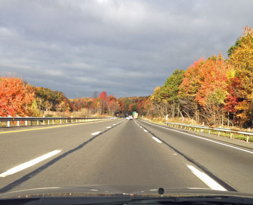 Fall foliage on I-81