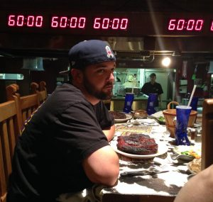 He ate the 72 oz steak!