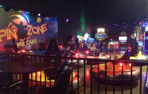SpinZone bumper cars at Scene75, Dayton, Ohio
