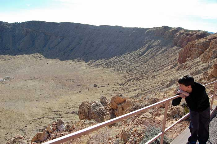 Meteor Crater in Arizona.