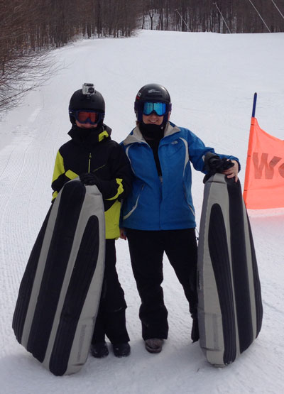 Airboarding at Smugglers' Notch Vermont