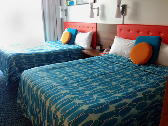 Queen beds at Cabana Bay Beach Resort Universal Orlando
