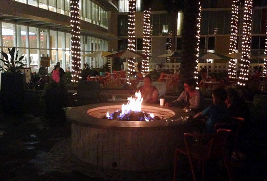 S'mores at the fire pit at Cabana Bay Beach Resort Universal Orlando