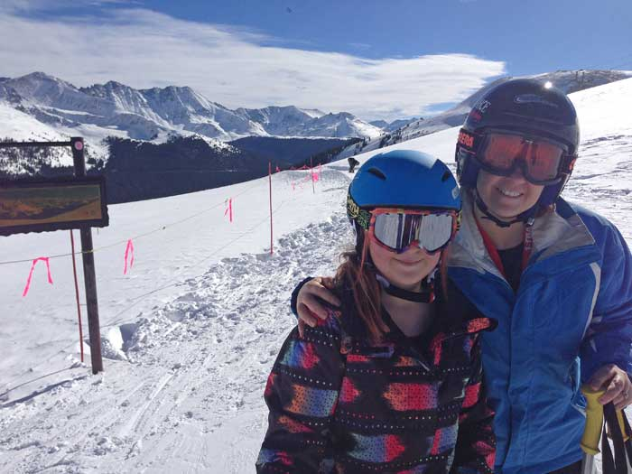 Spring skiing at Copper Mountain, Colorado.