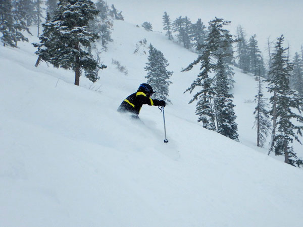 Spring skiing at Powder Mountain, Utah