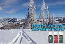 Essential oil blend recipe - Skiing on the Slopes!
