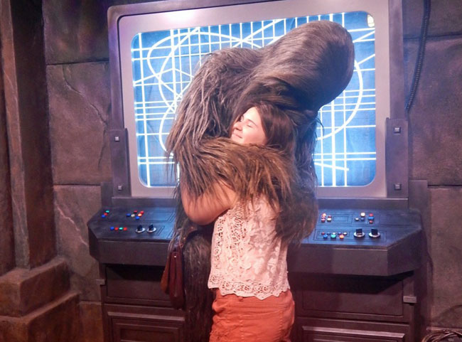 Yes, you can hug a Wookie at Disney World!