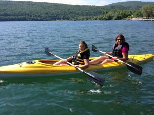Kayaking on Keuka Lake, Finger Lakes, NY