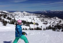 The High Camp and Gold Coast areas at Squaw Valley offer amazing views and terrain perfect for advancing beginner skiers.