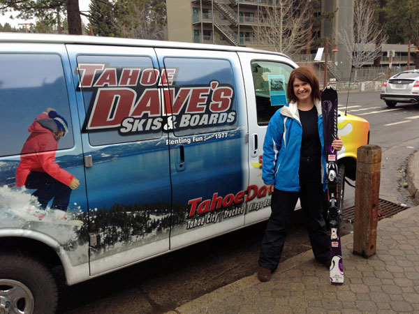Ski rentals are easy and convenient at Tahoe Dave's in Tahoe City, CA
