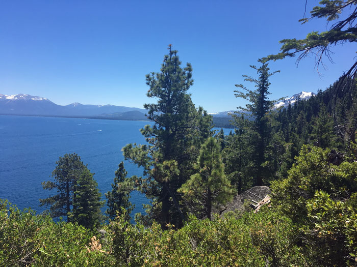 Gorgeous views of Lake Tahoe from the Lighthouse Trail at D.L. Bliss State Park.