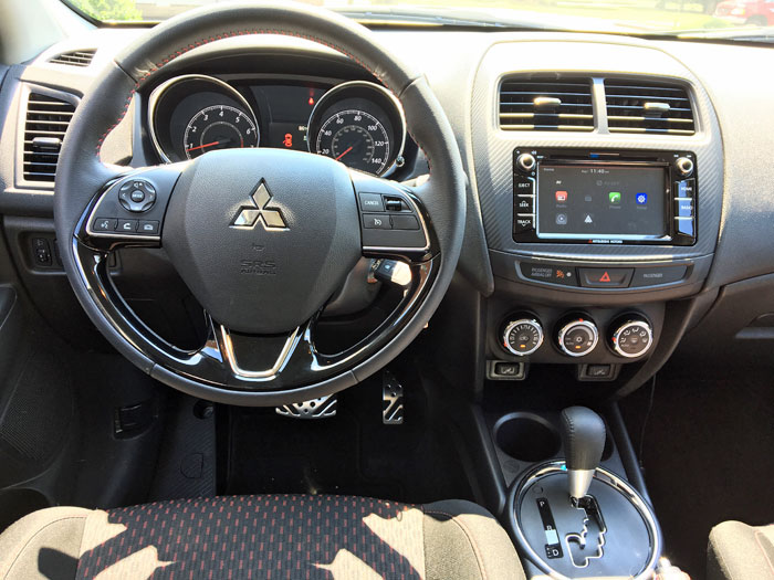 The dash of the Mitsubishi Outlander Sport.