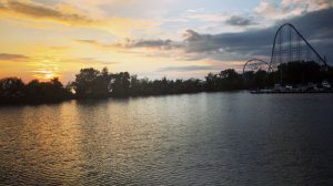 Sunset over Cedar Point from the Goodtime I Cruise.