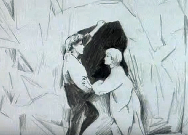 Screenshot from a-Ha video