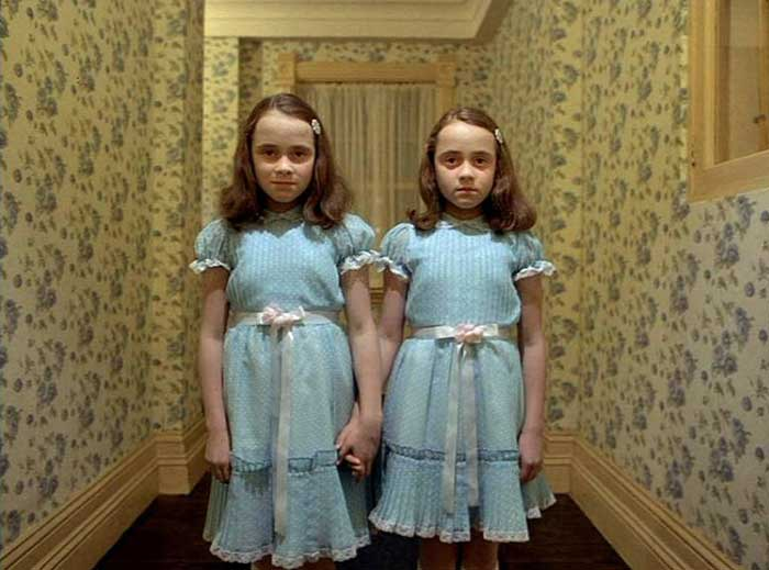 Twins from the movie The Shining.