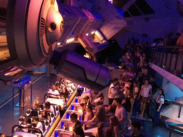Space Mountain ride queue.