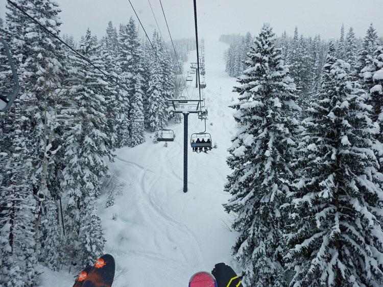 View from ski lift.