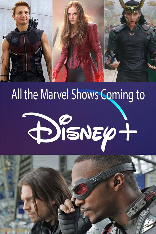 Marvel shows on Disney+ streaming service.