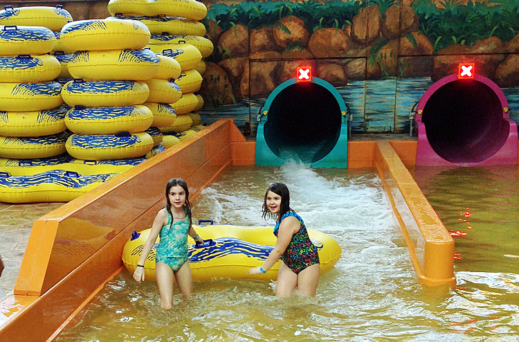 Water slides at Sahara Sams