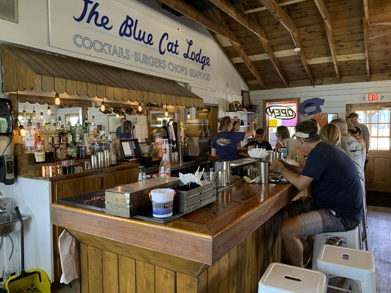 Inside the Blue Cat Lodge / JD's on the Lake.